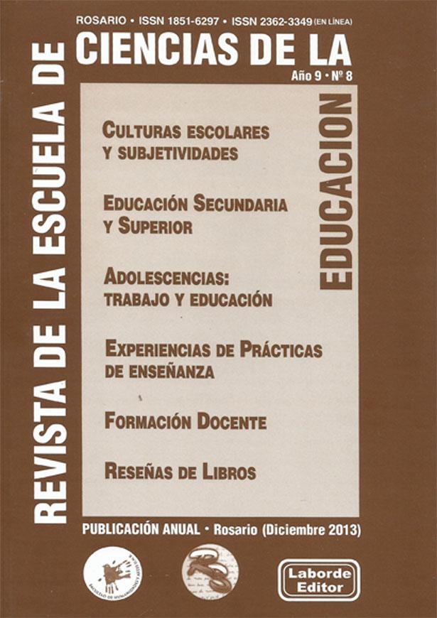 Revista de la Escuela de Ciencias de la Educación nº 8